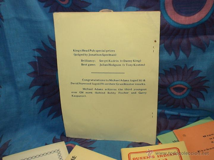 Coleccionismo deportivo: Ajedrez. Chess. Fifth Natwest Youngmaster. London 1988 DESCATALOGADO!!! - Foto 2 - 39553046