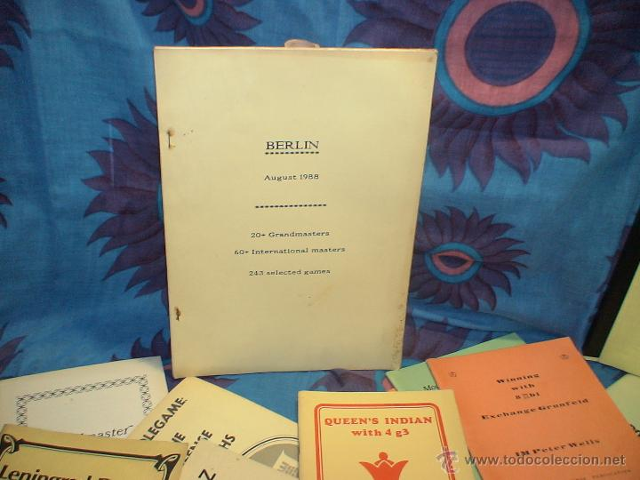 AJEDREZ. CHESS. OPEN BERLIN 1988 DESCATALOGADO!!! (Coleccionismo Deportivo - Libros de Ajedrez)
