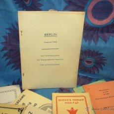 Coleccionismo deportivo: AJEDREZ. CHESS. OPEN BERLIN 1988 DESCATALOGADO!!!. Lote 40661979