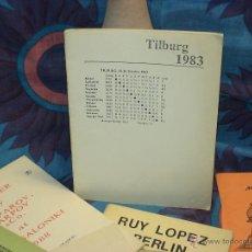Coleccionismo deportivo: AJEDREZ. CHESS. TILBURG 1983 - KARPOV/WADE DESCATALOGADO!!!. Lote 39565301