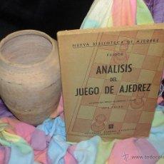 Coleccionismo deportivo: ANÁLISIS DEL JUEGO DE AJEDREZ - FILIDOR DESCATALOGADO!!!. Lote 39679137