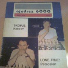 Coleccionismo deportivo: REVISTA AJEDREZ 6000 ESPAÑOL INTERNACIONAL JULIO 1976 Nº 60 DIFICIL. CHESS MAGAZINE. Lote 39733827