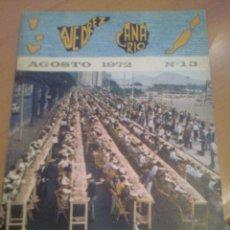 Coleccionismo deportivo: REVISTA AJEDREZ CANARIO AGOSTO 1972 Nº 13 . DIFICIL. Lote 39733882