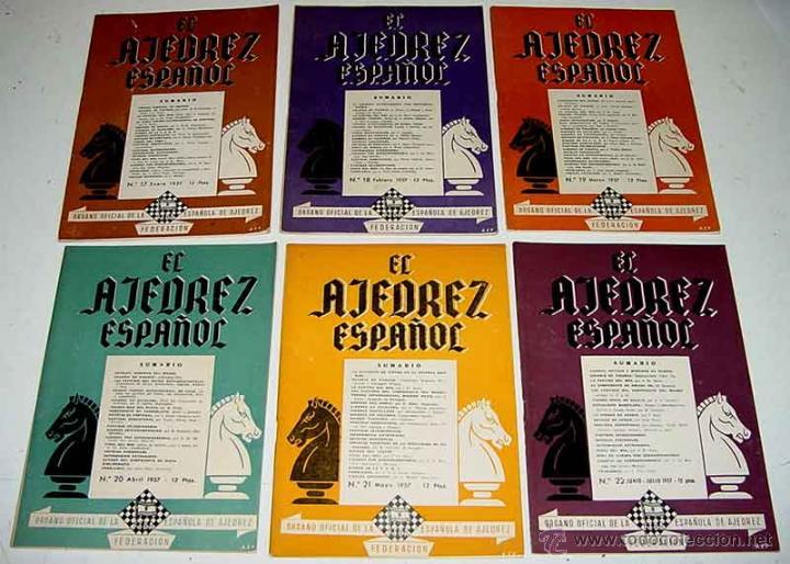 EL AJEDREZ ESPAÑOL. (AÑO 1957). MADRID. ANTIGUA REVISTA MENSUAL. ORGANO OFICIAL DE LA FEDERACIÓN ESP (Coleccionismo Deportivo - Libros de Ajedrez)