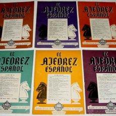 Coleccionismo deportivo: EL AJEDREZ ESPAÑOL. (AÑO 1957). MADRID. ANTIGUA REVISTA MENSUAL. ORGANO OFICIAL DE LA FEDERACIÓN ESP. Lote 48101050