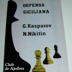 Coleccionismo deportivo: LIBRO DEFENSA SICILIANA - VARIANTE SCHEVENINGEN - KASPAROV, G. Y NIKITIN, A - FUNDAMENTOS 1987 - MAD. Lote 38252060