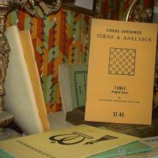 Coleccionismo deportivo: AJEDREZ. CHESS OPENINGS IDEAS & ANALYSIS: THREE KNIGHTS' GAME - LARRY EVANS DESCATALOGADO!!!. Lote 40295985