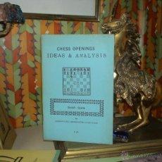 Coleccionismo deportivo: AJEDREZ. CHESS OPENINGS IDEAS & ANALYSIS: SCOTCH GAME - LARRY EVANS DESCATALOGADO!!!. Lote 40297922