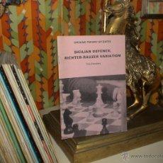 Coleccionismo deportivo: AJEDREZ. CHESS. SICILIAN DEFENCE, RICHTER-RAUZER VARIATION - TONY DEMPSEY. Lote 40394093