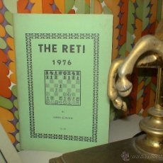 Coleccionismo deportivo: AJEDREZ. CHESS. THE RETI 1976 - NORMAN WEINSTEIN DESCATALOGADO!!!. Lote 40401146
