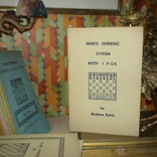 Coleccionismo deportivo: AJEDREZ. CHESS. WHITE OPENING SYSTEM WITH 1.P-Q4 - ANDREW SOLTIS DESCATALOGADO!!!. Lote 40402480