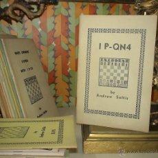 Coleccionismo deportivo: AJEDREZ. CHESS. 1.P-QN4 - ANDREW SOLTIS. Lote 40403427
