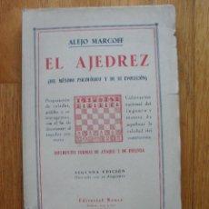 Coleccionismo deportivo: EL AJEDREZ, DEL METODO PSICOLOGICO Y DE SU EVOLUCION, ALEJO MARGOFF,. Lote 42028029