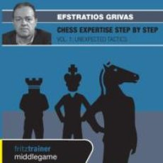 Coleccionismo deportivo: AJEDREZ. CHESS EXPERTISE STEP BY STEP VOL. 1. UNEXPECTED TACTICS - EFSTRATIOS GRIVAS DVD. Lote 42113659