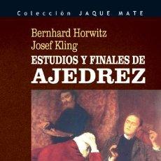 Coleccionismo deportivo: ESTUDIOS Y FINALES DE AJEDREZ - BERNHARD HORWITZ/JOSEF KLING. Lote 42490239