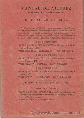Coleccionismo deportivo: MANUAL DE AJEDREZ JOSÉ PALUZÍE Y LUCENA PARTE QUINTA PROBLEMAS - Foto 2 - 43421385