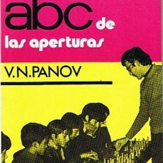 Coleccionismo deportivo: ABC DE LAS APERTURAS V.N. PANOV 1973. Lote 43436964