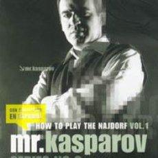 Coleccionismo deportivo: AJEDREZ. CHESS. MR. KASPAROV SERIES - NO. 2 HOW TO PLAY THE NAJDORF VOL. 1 - GARRY KASPAROV DVD. Lote 43606896