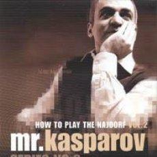 Coleccionismo deportivo: AJEDREZ. CHESS. MR. KASPAROV SERIES - NO. 3 HOW TO PLAY THE NAJDORF VOL. 2 - GARRY KASPAROV DVD. Lote 43607551