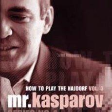 Coleccionismo deportivo: AJEDREZ. CHESS. MR. KASPAROV SERIES - NO. 4 HOW TO PLAY THE NAJDORF VOL. 3 - GARRY KASPAROV DVD. Lote 43609900