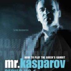 Coleccionismo deportivo: AJEDREZ. CHESS. MR. KASPAROV SERIES - NO. 1 HOW TO PLAY THE QUEEN'S GAMBIT - GARRY KASPAROV DVD. Lote 43612466