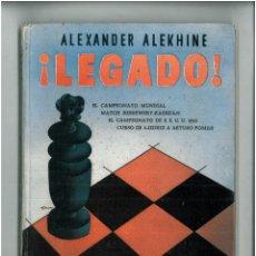 Coleccionismo deportivo: AJEDREZ - ALEXANDER ALEKHINE - LEGADO. Lote 44671732