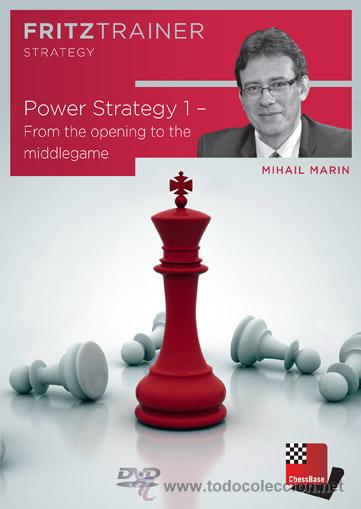 AJEDREZ. CHESS. POWER STRATEGY 1. FROM THE OPENING TO THE MIDDLEGAME - MIHAIL MARIN DVD-ROM (Coleccionismo Deportivo - Libros de Ajedrez)