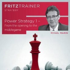 Coleccionismo deportivo: AJEDREZ. CHESS. POWER STRATEGY 1. FROM THE OPENING TO THE MIDDLEGAME - MIHAIL MARIN DVD-ROM. Lote 50332732