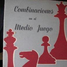 Coleccionismo deportivo: COMBINACIONES EN EL MEDIO JUEGO.KURT RICHTER.1947.196 PG AJEDREZ. Lote 45811855