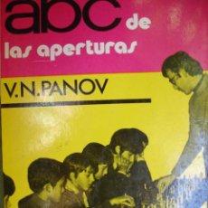Coleccionismo deportivo: ABC DE LAS APERTURAS.PANOV.111 PG.1973.AJEDREZ. Lote 45938634