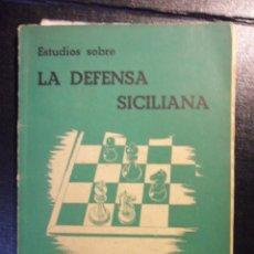 Coleccionismo deportivo: ESTUDIOS SOBRE LA DEFENSA SICILIANA. HERMANN SEEGER - JULIO GANZO. MADRID 1946. RUSTICA. 106 PAGINAS. Lote 46580431