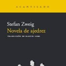 Coleccionismo deportivo: CHESS. NOVELA DE AJEDREZ - STEFAN ZWEIG (NOVELA). Lote 48761386