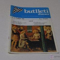 Coleccionismo deportivo: BUTLLETI D'ESCACS. Nº 63 FEBRER 1993. Lote 47068436