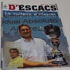 Coleccionismo deportivo: BUTLLETI D'ESCACS. Nº 144. NOVEMBRE 2010. Lote 47068535