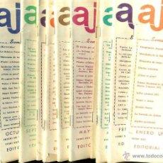Coleccionismo deportivo: REVISTA AJEDREZ AÑO COMPLETO 1978 - SOPENA ARGENTINA. Lote 47677562