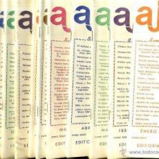 Coleccionismo deportivo: REVISTA AJEDREZ AÑO COMPLETO 1977 - SOPENA ARGENTINA. Lote 47677586
