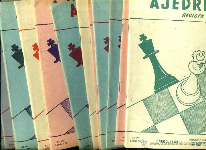 REVISTA AJEDREZ AÑO COMPLETO 1969 - SOPENA ARGENTINA (Coleccionismo Deportivo - Libros de Ajedrez)