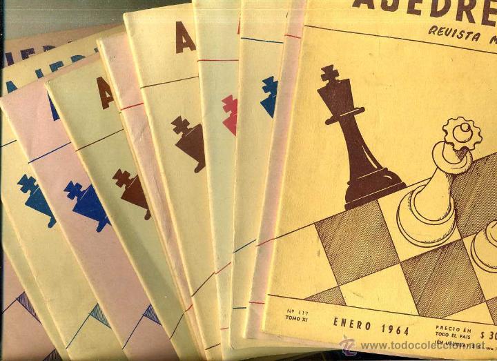 REVISTA AJEDREZ AÑO COMPLETO 1964 - SOPENA ARGENTINA (Coleccionismo Deportivo - Libros de Ajedrez)