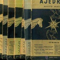 Coleccionismo deportivo: REVISTA AJEDREZ AÑO COMPLETO 1958 - SOPENA ARGENTINA. Lote 47677753