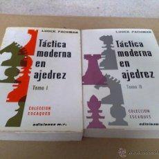 Coleccionismo deportivo - TÁCTICA MODERNA EN AJEDREZ TOMO I Y II - 48584054