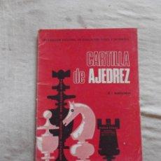 Coleccionismo deportivo: CARTILLA DE AJEDREZ POR ROMAN TORAN. Lote 48890681