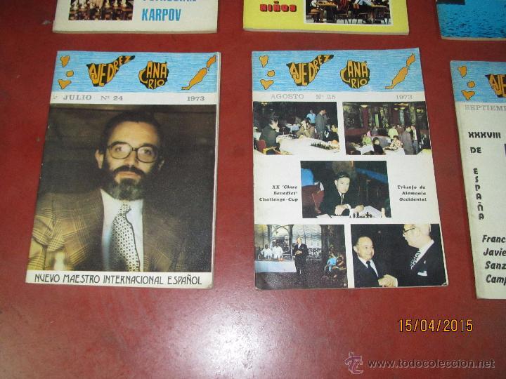 Coleccionismo deportivo: Antiguas Revistas Año 1973 Completo de ** AJEDREZ CANARIO ** del Nº 18 al Nº 29 - Foto 2 - 48893508