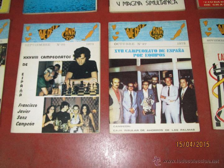 Coleccionismo deportivo: Antiguas Revistas Año 1973 Completo de ** AJEDREZ CANARIO ** del Nº 18 al Nº 29 - Foto 3 - 48893508