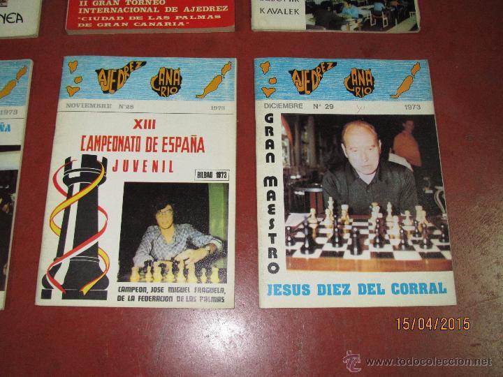 Coleccionismo deportivo: Antiguas Revistas Año 1973 Completo de ** AJEDREZ CANARIO ** del Nº 18 al Nº 29 - Foto 4 - 48893508