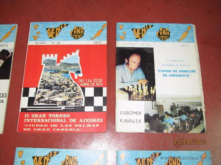 Coleccionismo deportivo: Antiguas Revistas Año 1973 Completo de ** AJEDREZ CANARIO ** del Nº 18 al Nº 29 - Foto 5 - 48893508