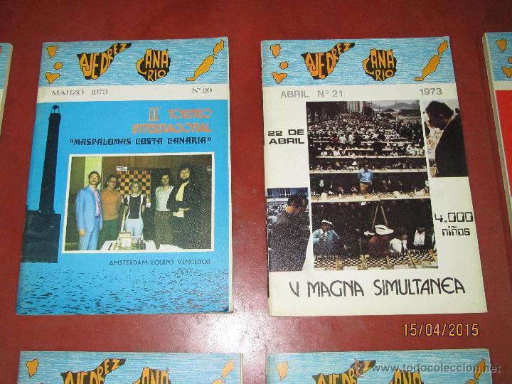 Coleccionismo deportivo: Antiguas Revistas Año 1973 Completo de ** AJEDREZ CANARIO ** del Nº 18 al Nº 29 - Foto 6 - 48893508