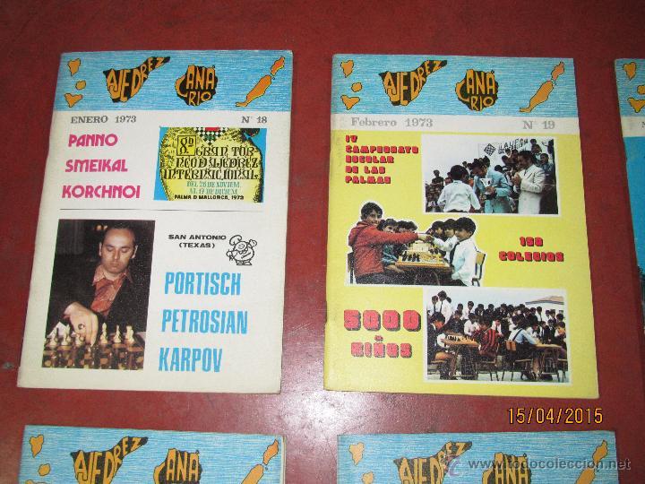 Coleccionismo deportivo: Antiguas Revistas Año 1973 Completo de ** AJEDREZ CANARIO ** del Nº 18 al Nº 29 - Foto 7 - 48893508