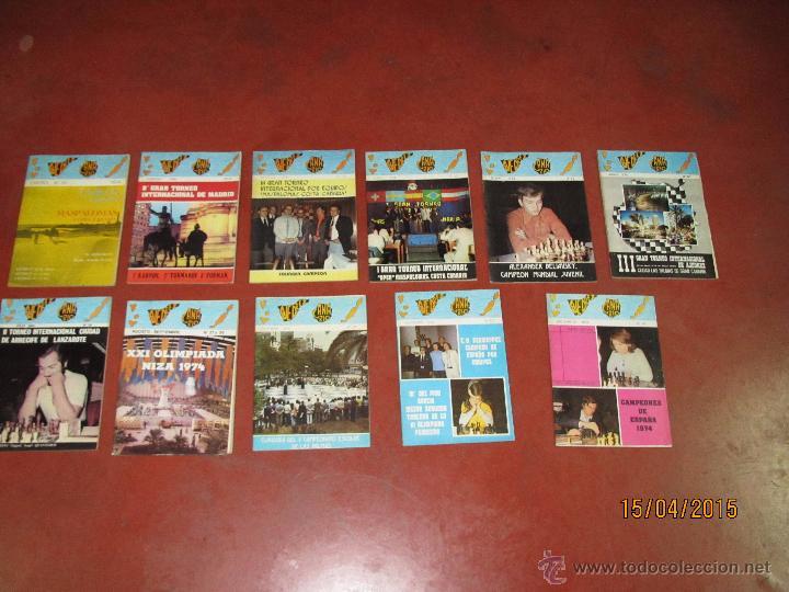ANTIGUAS REVISTAS AÑO 1974 COMPLETO DE ** AJEDREZ CANARIO ** DEL Nº 30 AL Nº 41 (Coleccionismo Deportivo - Libros de Ajedrez)