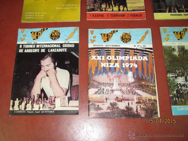 Coleccionismo deportivo: Antiguas Revistas Año 1974 Completo de ** AJEDREZ CANARIO ** del Nº 30 al Nº 41 - Foto 2 - 48893711