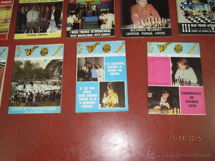 Coleccionismo deportivo: Antiguas Revistas Año 1974 Completo de ** AJEDREZ CANARIO ** del Nº 30 al Nº 41 - Foto 3 - 48893711